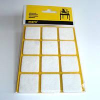 Подкладки для мебели, войлочные, самоклеящиеся (белые).