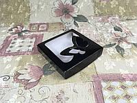 Коробка для пряников / 150х150х30 мм / печать-Черн / окно-Бабочка / лк, фото 1
