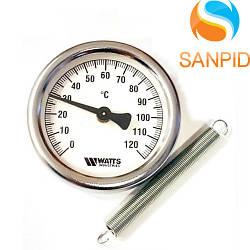 Термометр накладной Watts TAB 80/120 (F+R810 TCM 80mm 0-120°C)