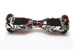 Гироборд 6,5 гироскутер сигвей с Bluetooth и колонками Black Graffiti