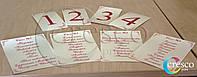Номерки на стол, индивидуальный дизайн