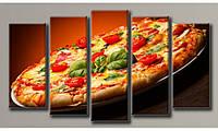 """Модульная картина на холсте """"Пицца"""" для интерьера"""