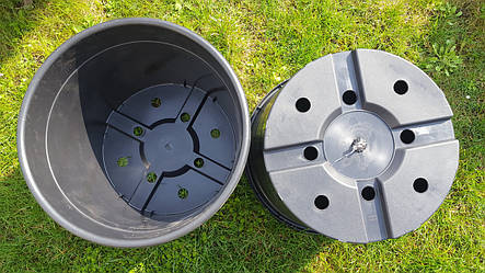Горшок для рассады 32л с бортом,42x30см,круглый,черный(10шт\уп), фото 2