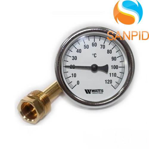 Термометр биметаллический Watts T63/50 (F+R801 OR 63mm 0-120°C)