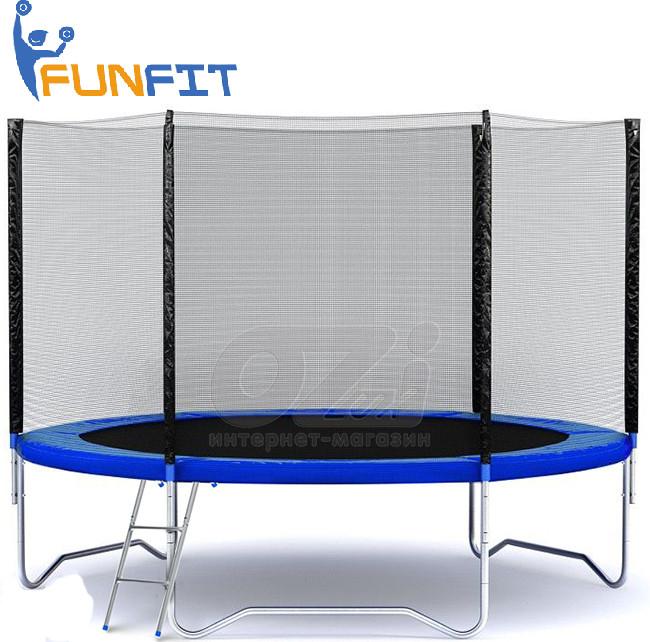 Батут Funfit с внешней сеткой 252см