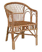 Плетенное кресло из лозы КО-7 ЧФЛИ 580х570х850 мм