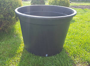 Горшок для рассады 80л с бортом,56x41,5см,круглый,черный