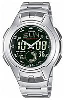 Мужские часы Casio AQ-160WD-1BV Касио водонепроницаемые японские часы