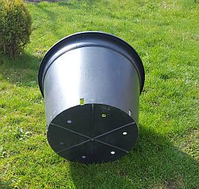 Горшок для рассады 60л с бортом,50x36см,круглый,черный, фото 2