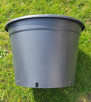 Горшок для рассады 100л с бортом,60x46см,круглый,черный, фото 2