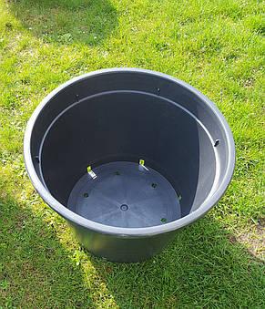 Горшок для рассады 100л с бортом,60x46см,круглый,черный, фото 3