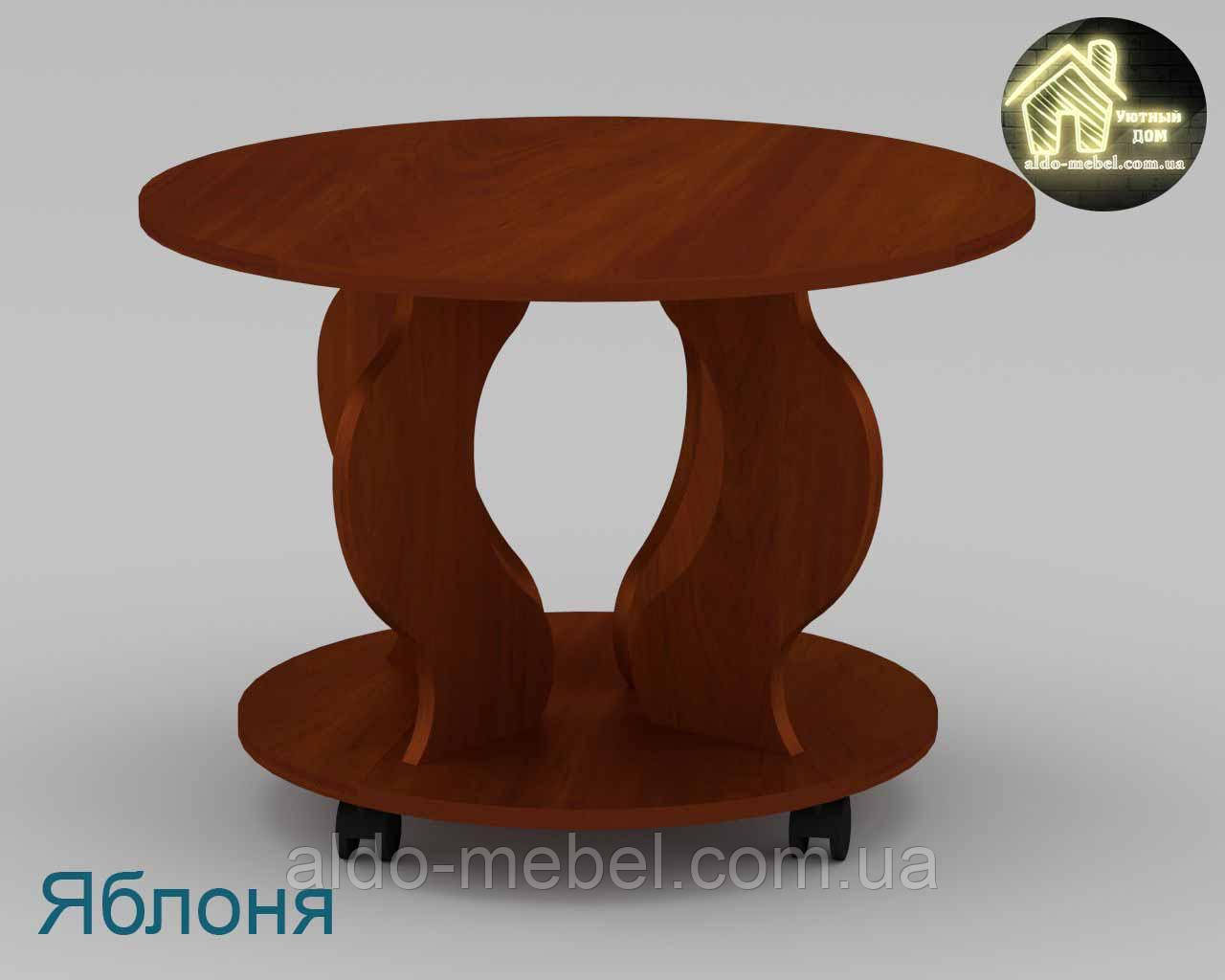 Стол журнальный Ринг Габариты Ш - 697 мм; В - 484 мм; Г - 697 мм (Компанит)