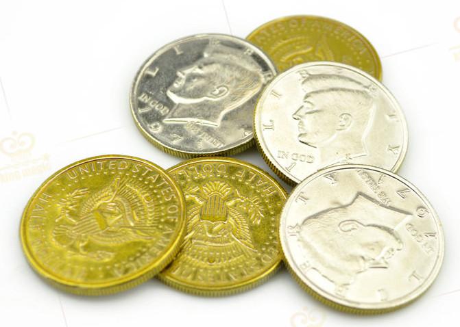 Half Dollar - Half Gold , Half Silver