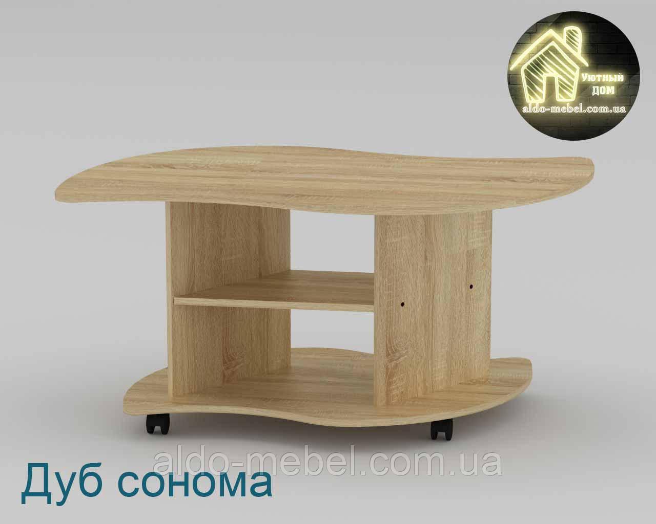 Стол журнальный Вираж Габариты Ш - 1100 мм; В - 536 мм; Г - 600 мм (Компанит)