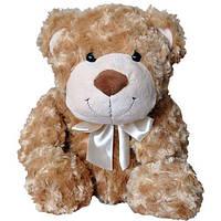 Мягкая игрушка - МЕДВЕДЬ для детей от 3 лет (коричневый, с бантом, 33 см) ТМ Grand 3302GMC
