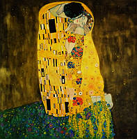 «Поцелуй» копия - Густав Климт картина маслом