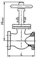 Задвижка параллельная двухдисковая с выдвижным шпинделем 30ч706бр
