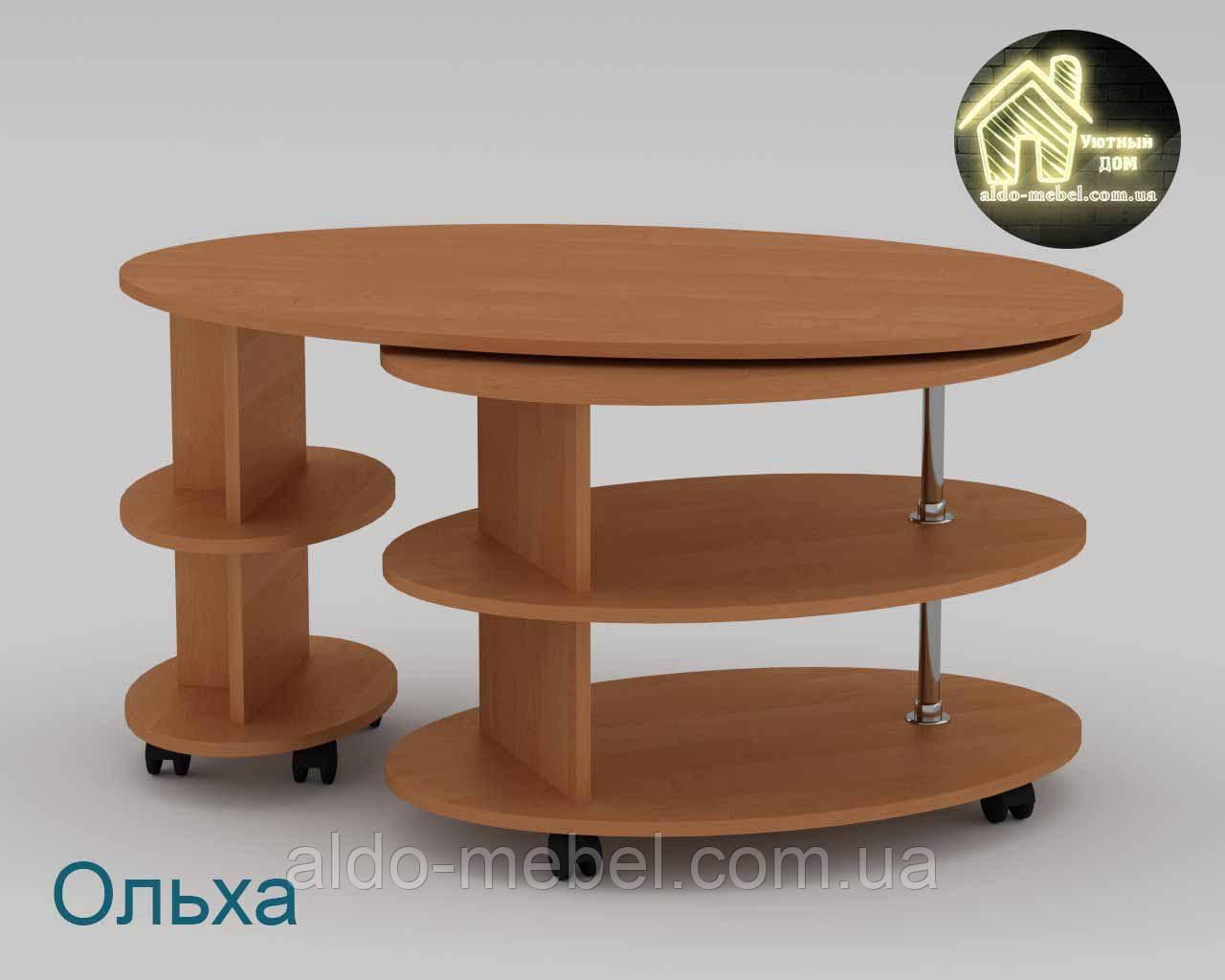 Стол журнальный Вальс (Торцовка пластик) Габариты Ш - 1120 мм; В - 560 мм; Г - 640 мм (Компанит)