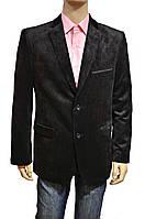 Вельветовый пиджак мужской. Черный. C замшевыми накладками на локтях