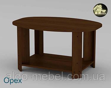 Стол журнальный Овал (Торцовка пластик) Габариты Ш - 885 мм; В - 496 мм; Г - 625 мм (Компанит)