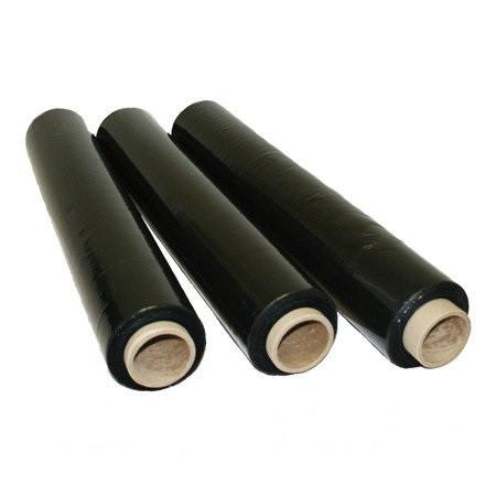 Стрейч пленка черная 20 мкм - 500 мм (2,2 кг) (6 шт/уп)