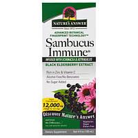 Иммунная формула  Бузина +(Sambucus Immune) 12 000 мг 120 мл лечение гриппа простуды кашля Nature's Answer USA