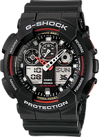 Мужские часы Casio G-Shock GA-100-1A4ER Касио водонепроницаемые японские кварцевые