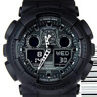 Мужские часы Casio G-ShockGA100-1A1 Касио водонипроницаемые японские кварцевые