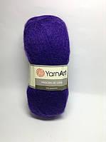 Пряжа angora de luxe - цвет фиолетовый