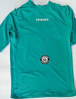 Лайкровая футболка для плавания с уф защитой Tribord; короткий рукав; бирюзовая