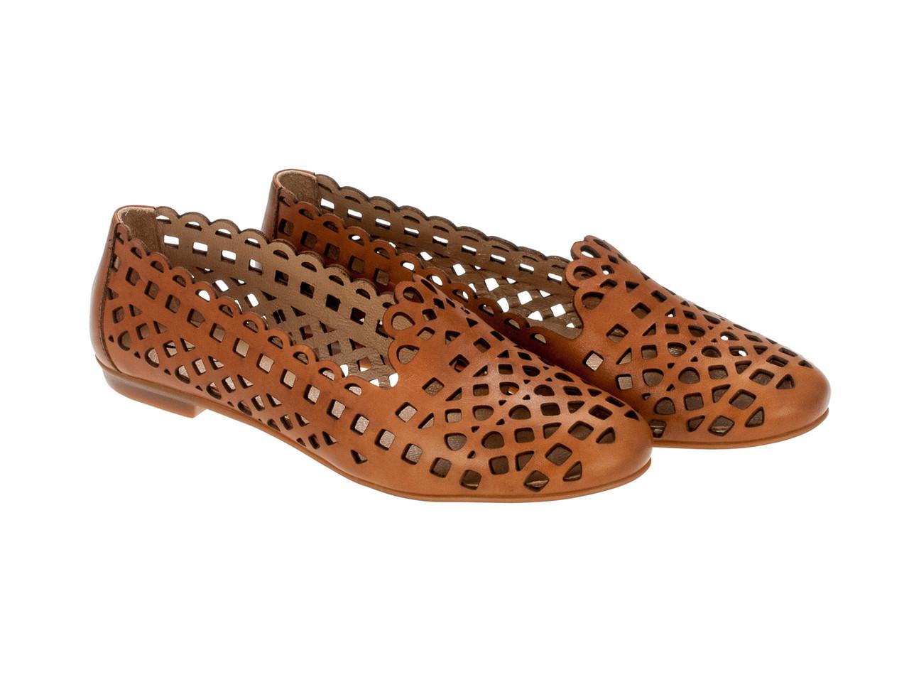 Балетки Etor 4524-98-439 коричневые
