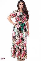 Платье Мальва (48 размер, зеленый) ТМ «PEONY»