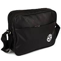 Горизонтальная виниловая сумка P3005 black 1