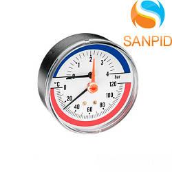 Термоманометр Watts TMAX 80mm (0-4 bar / 0-120 °С)