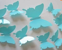 Интерьерные наклейки 3D Бабочки на стену (12 шт)