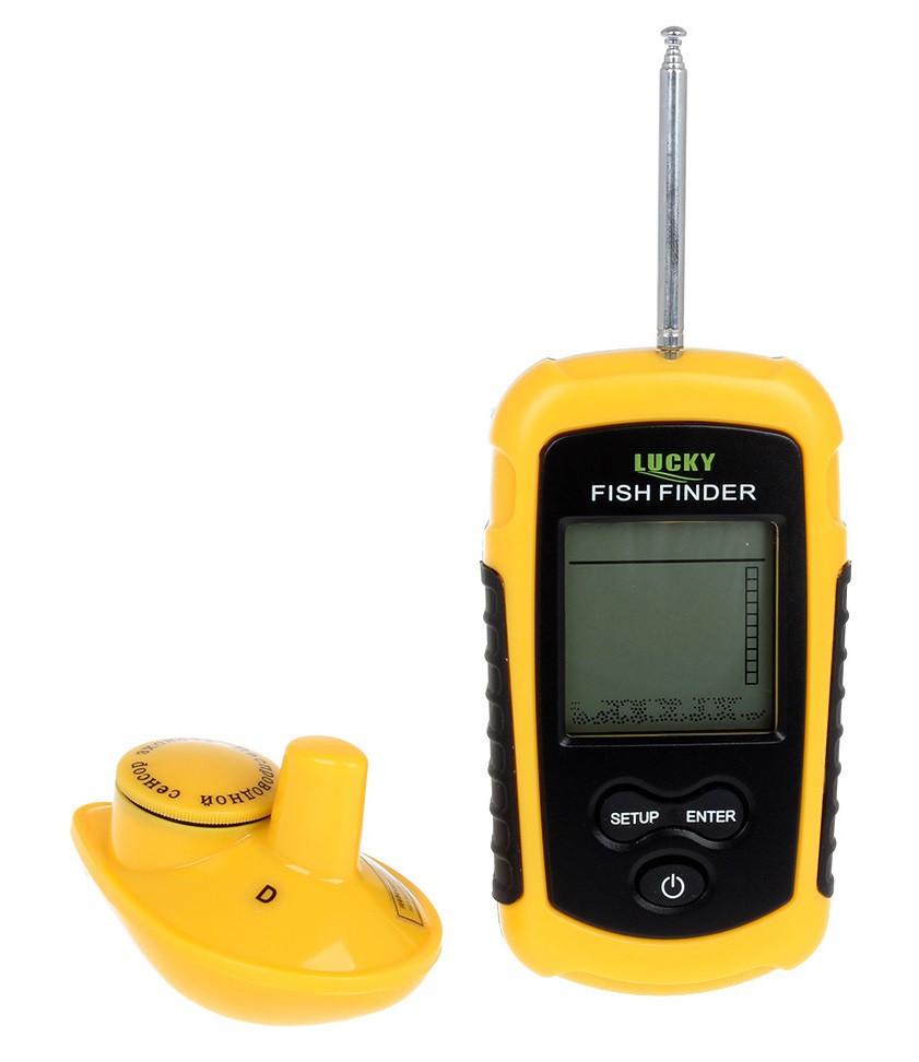 Эхолот беспроводной Lucky FFW 1108-1 портативный для рыбалки с лодки и берега
