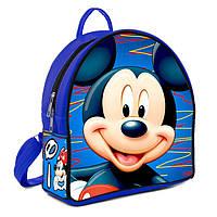 Синий городской женский рюкзак с принтом Мики маус