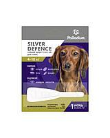 Palladium (Палладиум) Silver Defence капли на холку для собак 4-10 кг от блох клещей комаров