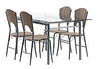 Комплект кухонный (обеденная группа из стола стеклянного + 4 стула), фото 1