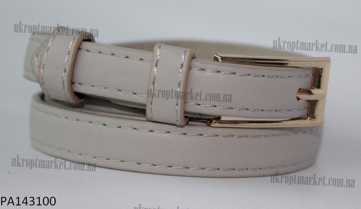 """Ремень женский шпенек светло-серый (кожзам,  8-10 мм.) """"Remen"""" LM-638"""