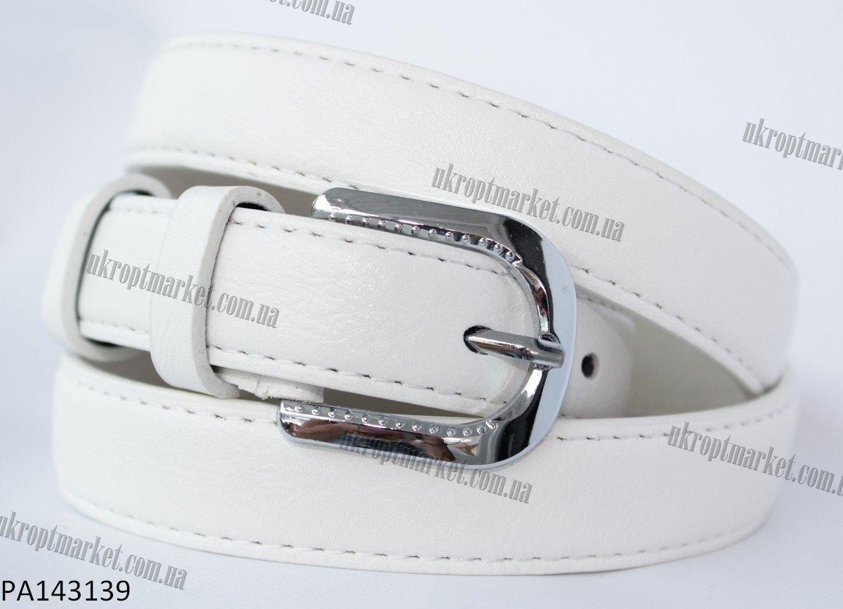 """Ремень женский шпенек белый (кожзам, 20-25 мм.) """"Remen"""" LM-638"""