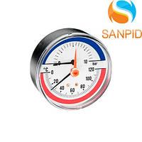 Термоманометр Watts TMAX 80mm (0-6 bar / 0-120 °С)