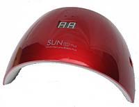 Гибридная светодиодная UV/LED лампа Sun 9S Plus на 36 вт с дисплеем красная.