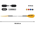 Классическое ассиметричное двухсекционное весло для байдарки и каяка, фото 2