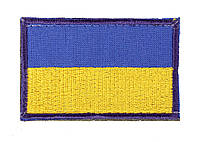 Флаг Украины на липучке 80 х 50 для рюкзака и барсетки