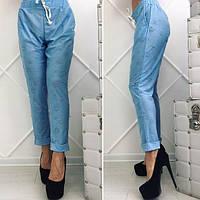 Укороченные брюки летние женские