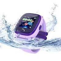 Детские умные gps часы Водонепроницаемые Smart baby watch DF25(ip67) violet Гарантия 12 мес