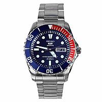 Мужские механические часы Seiko 5 SNZF15K1 pepsi Сейко механические японские часы с автозаводом