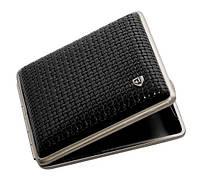 Портсигар VH 901221 кожаный для 18 KS/24 слим сигарет Черный