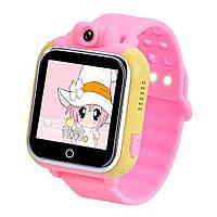 Детские умные gps часы сенсор с камерой и 3G Smart baby watch Q200 Android pink Гарантия 12 мес